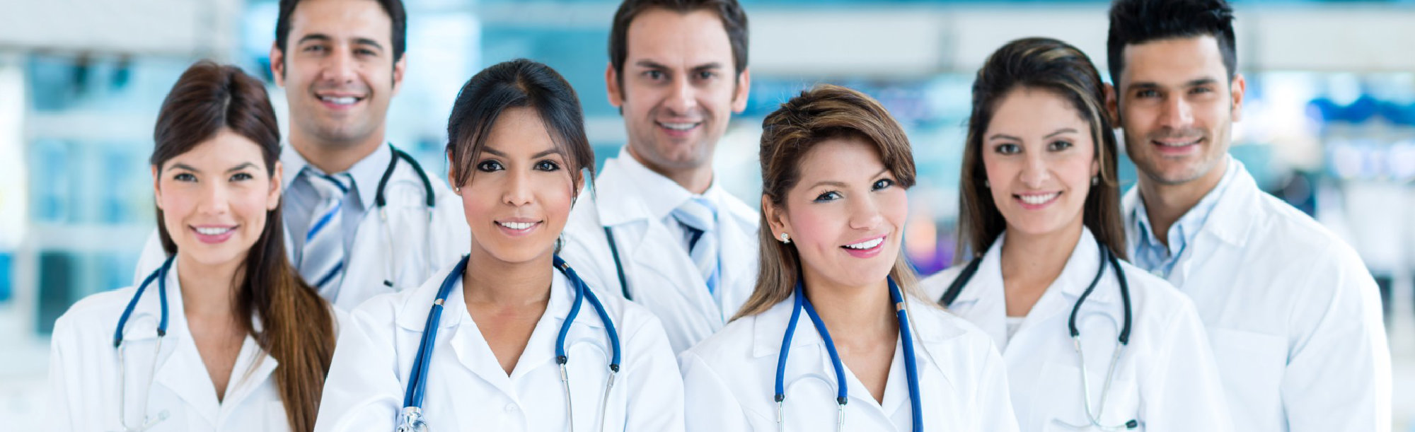 medical staffs with stethoscope