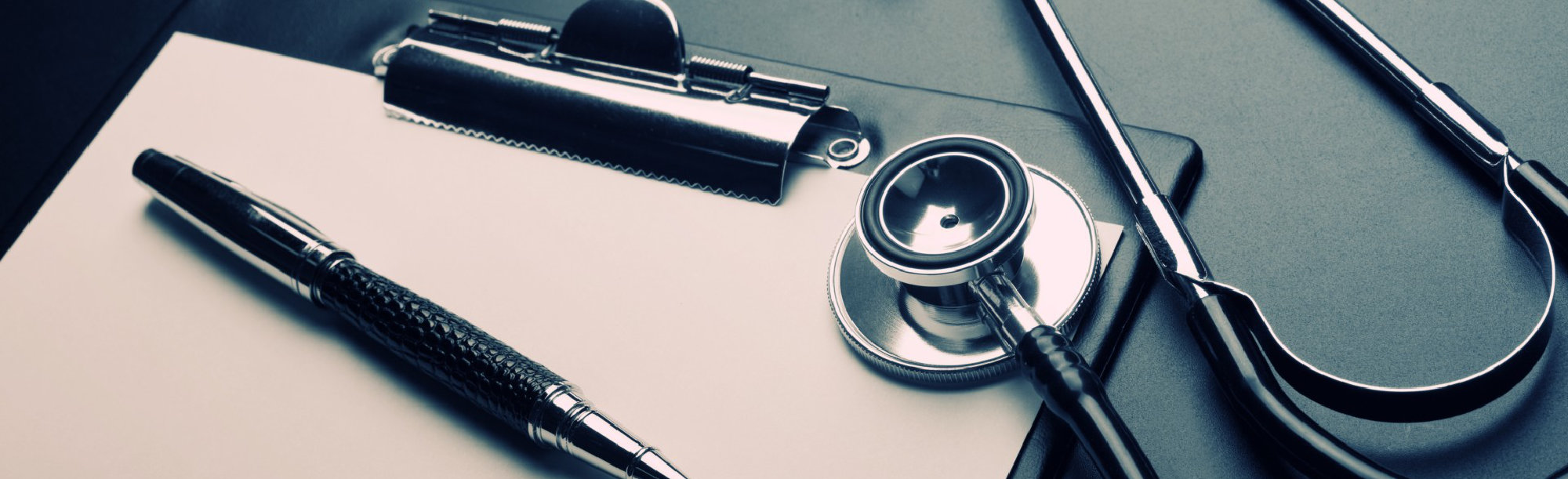 stethoscope and a record book